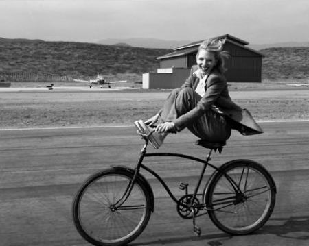 happy bike rider